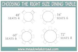 table size for 6 dining round chairs what rug x 3 65 inch tv page 64 bit