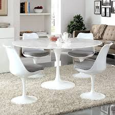 tulip dining table with 60 round marble top