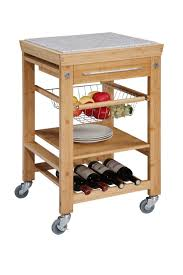 Granite Top Kitchen Cart Linon Bamboo Kitchen Cart With Granite Top 44031bmb 01 Kd U