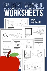 Printable phonics short vowel worksheets lesson. Short Vowel Worksheets Sample Pack For Cvc Phonics Practice The Homeschool Resource Room