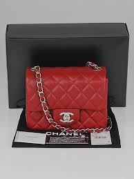 Chanel Red Quilted Caviar Leather Classic Mini Flap Bag - Yoogi's ... & ... Chanel Red Quilted Caviar Leather Classic Mini Flap Bag Adamdwight.com
