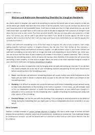 bathroom remodeling checklist kitchen and bathroom remodeling checklist for vaughan residents