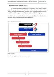 Dominos Pizza Organizational Chart Organizations And