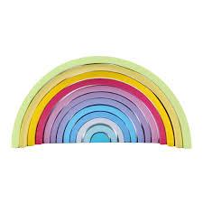 <b>12Pcs wooden rainbow blocks</b> wooden building blocks For Kid ...