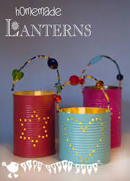 kid craft gifts for christmas. homemade gifts - tin can lanterns kid craft for christmas