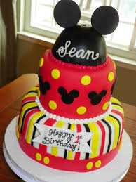 Cute Mickey Mouse Birthday Cakes Classic Style Funny Mickey