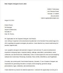 Cover Letter For Graphic Design Job Graphic Designer Cover Letter Template 7 Free Word