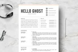 How Many Pages Is A Modern Resume Modern Resume Template 4 Pages Design