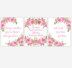 watercolor flower wall art baby girl nursery pink shades floral wall art prints home decor set on floral wall art nursery with watercolor flower wall art baby girl nursery pink shades floral wall