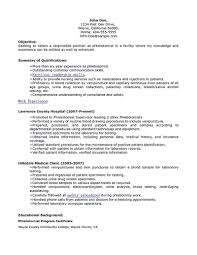 Phlebotomy Resume Sample Unique Includes Skills Experience