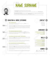Vector Minimalist Cv Resume Template With Timeline Green