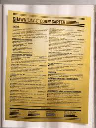 The Muse Resume Templates JayZ's Resume Write Best Resume Ever Jigga Genius 95