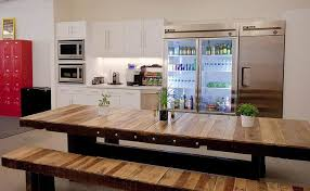 modern kitchen table with bench. cafetria style kitchen for big families modern table with bench t