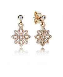 pandora 14k gold lace botanique earrings 25090cz