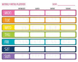 weekly menue planner printable menu planner weekly food organizer mid century grid
