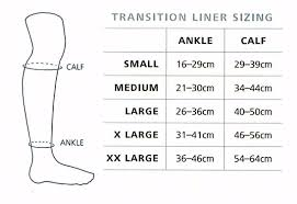 Compreflex Sizing Chart Sigvaris Transition Silver Liners
