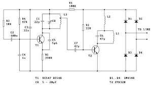 spy telephone circuit telephone schematic diagram Telephone Schematic #11