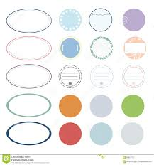 Decoration For Project Label Template Vector Design With Colorful Creative Decoration