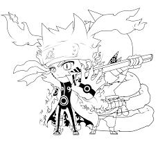 Naruto And Sasuke Chibi Coloring Page Free Printable Coloring