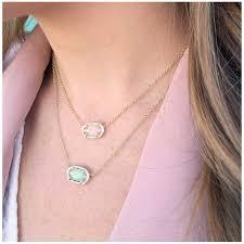 kendra scott elisa gold pendant necklace in rose quartz precious kendra scott elisa pendant necklace