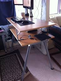 Plain Ikea Standing Desk Galant Gallant Inside Inspiration Decorating