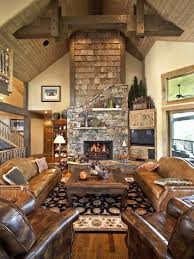 Delightful Traditional Living Room Log Cabin Decorating Design, Pictures, Remodel,  Decor And Ideas   Page 4