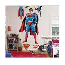 superman standing life size wall decal with free extras