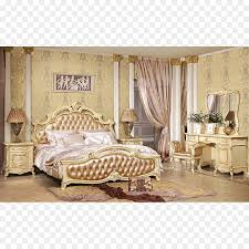Gepolsterter Barock Schlafzimmer Dekoration Bett Png Herunterladen