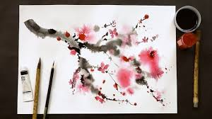 <b>Chinese painting</b> technique using bamboo brushes and <b>watercolor</b> ...