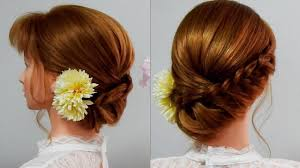 ロングミディアム 可愛い髪型成人式 髪型ふんわりで可愛いヘアセット