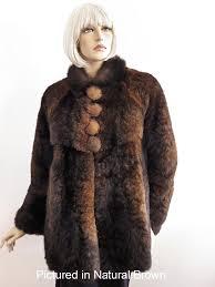 natural brown possum fur mimi coat
