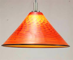 orange glass pendant light orange hanging lamp blown glass pendant lamp pendant light hand blown glass