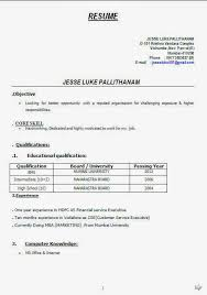 41 Best Of Resume Format For Freshers Resume Template