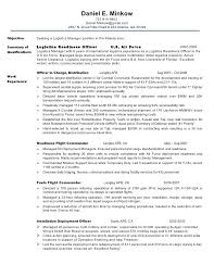 Air Force Resume Samples Astonishing Air Force Military Resume