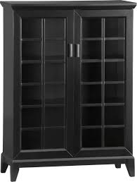 Wooden Storage Cabinets With Doors Furniture Interior Innovative Black Painted Oak Wood Glass Cabinet