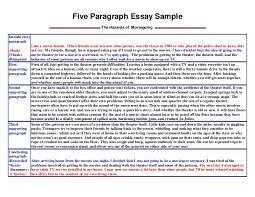 five paragraph essay sample five paragraph essay sample