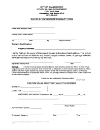 owner responsibility form fillable online exercises 1 8 fax email print pdffiller