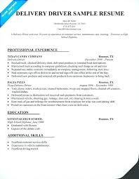 Sample Resume Delivery Driver Pizza Delivery Driver Resume April