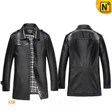 leather trench coat men cw816024 jackets cwmalls com