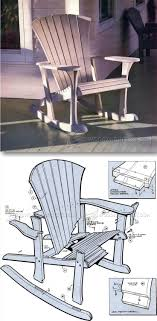 Adirondack Rocking Chair Plans Outdoor Furniture Plans Projects