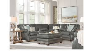2 388 00 frankford charcoal dark gray 4 pc leather sectional living room traditional
