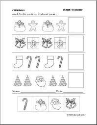 Patterns For Preschool New Worksheet Christmas Follow The Pattern Preschoolprimary Abcteach