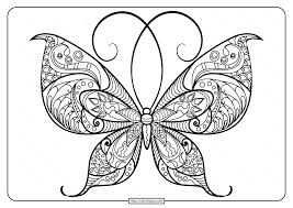 Enjoy these free coloring pages to color, paint or crafty educational projects for young children and the young at heart. Printable Butterfly Mandala Pdf Coloring Pages 48