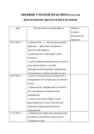 Дневник и отчёт по учебно ознакомительной практике в отделе по  Дневник и отчёт по учебно ознакомительной практике в отделе по расследованию преступлений полиция