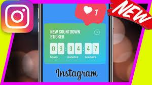 How To Use Instagram Countdown Sticker In Instagram Stories