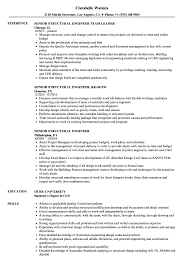 Sample Resume For Structural Engineer Senior Structural Engineer Resume Samples Velvet Jobs 15