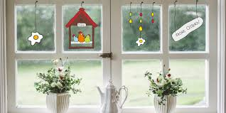 Ostern Im Fenster Kostenlose Bastelvorlage Für Neogrün