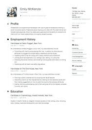 Resume Hair Stylist Hairdressing Career Objective Resume Hair Dresser Stylist Examples