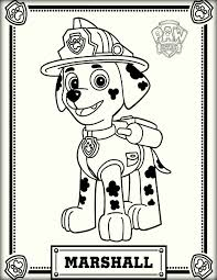 Marshall Paw Patrol Color Pictures Color Zini
