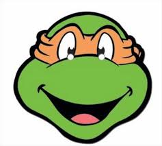 ninja turtles michelangelo face. Teenage Mutant Ninja Turtles Michelangelo Single TMNT Fun Card Party Face Mask EBay Intended